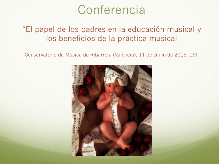 Conferencia educación musical