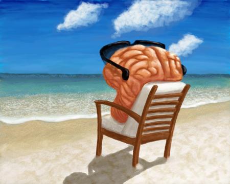 Cerebro en la playa