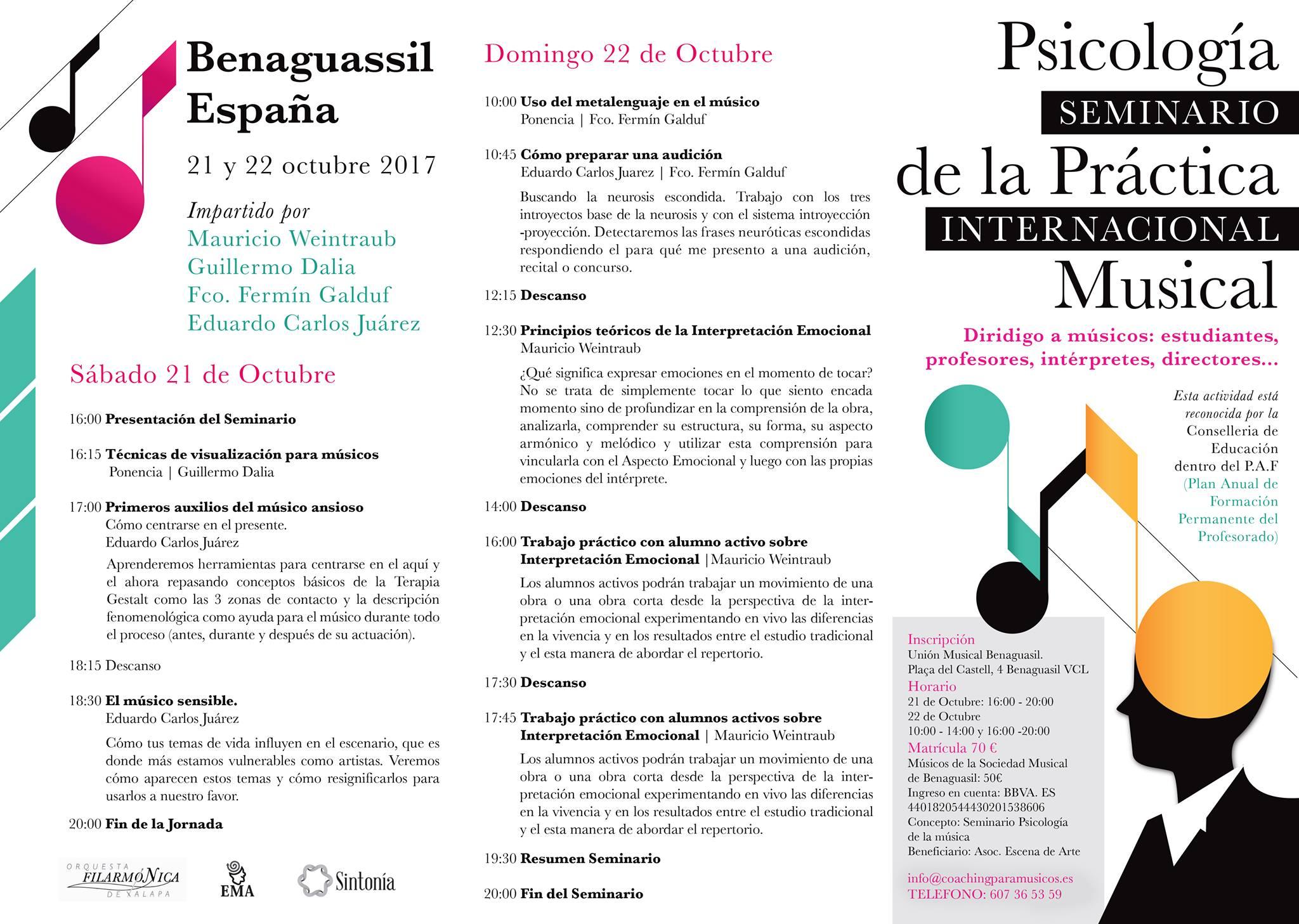 Seminario Benaguasil 2017 psicología de la música